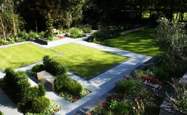 Прямолинейные дорожки в саду