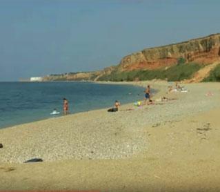 осенний пляж