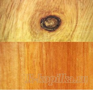 Сучки на деревянной доске