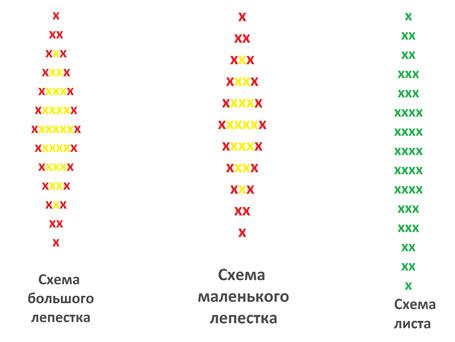 Схема плетения лилий из бисера