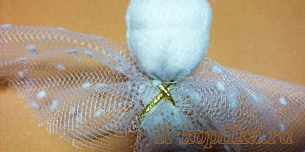 как сделать ангела из ткани