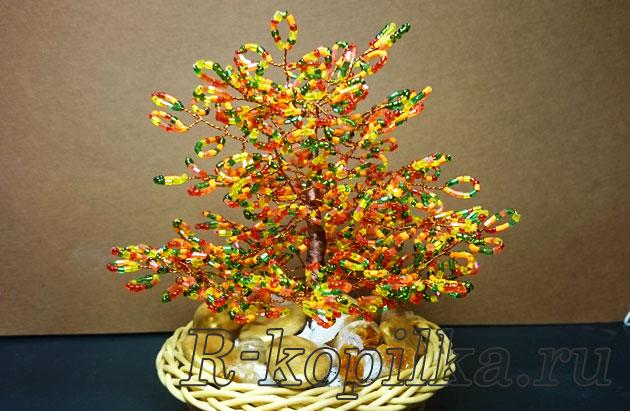 Дерево из бисера своими руками для новичков