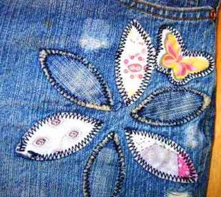 Старые джинсы переделка