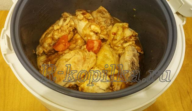 Пошаговый рецепт чахохбили из курицы с фото