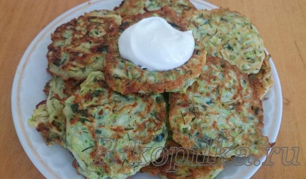 кабачковые оладьи рецепт с фото пошагово