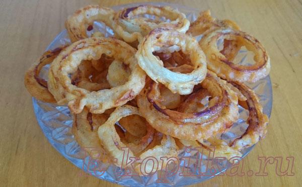луковые кольца в кляре рецепт с фото пошагово