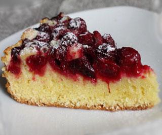Вишневый бисквитный пирог рецепт