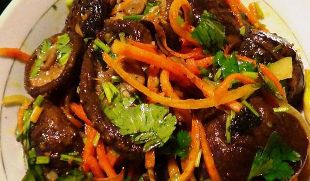 салаты из шиитаке