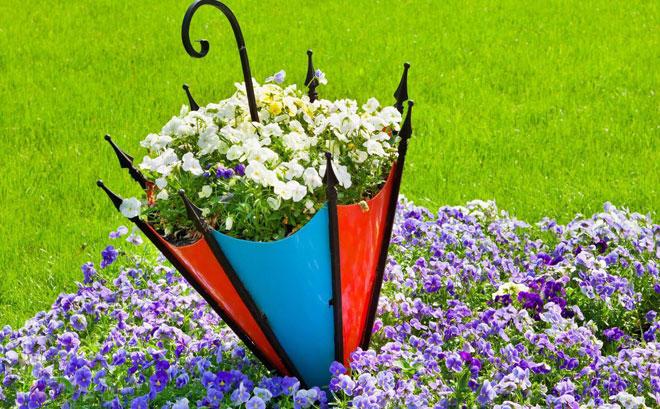 металлическая форма под цветы
