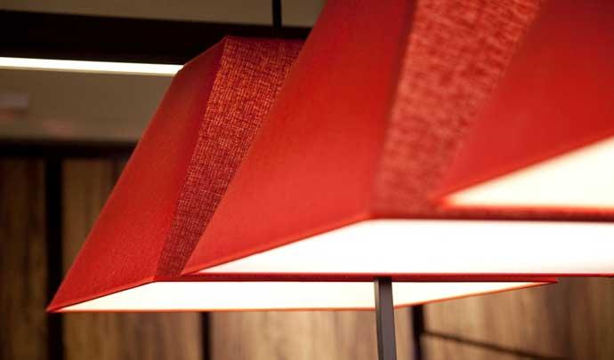 Красный цвет в интерьере по фен шуй