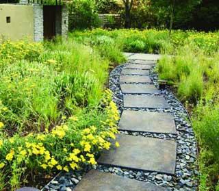 Садовые дорожки с минимальными затратами