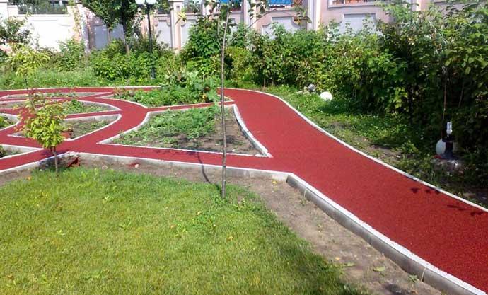 резиновые плитки для садовых дорожек
