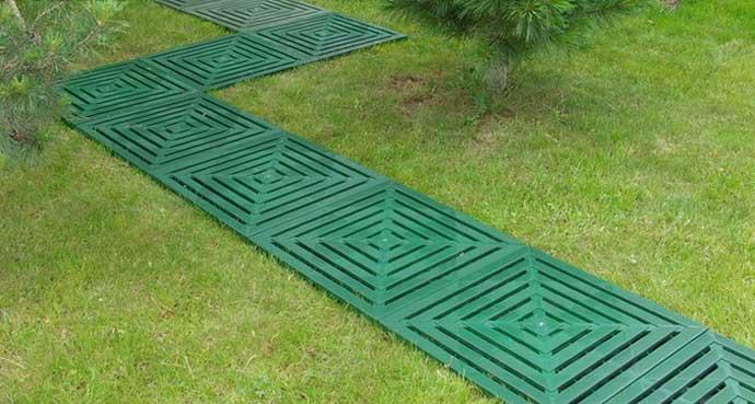 пластиковые покрытия для садовых дорожек