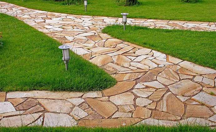 дорожки из бетона под камень