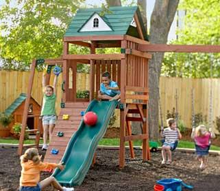 Как сделать детскую площадку на даче своими руками: оформление