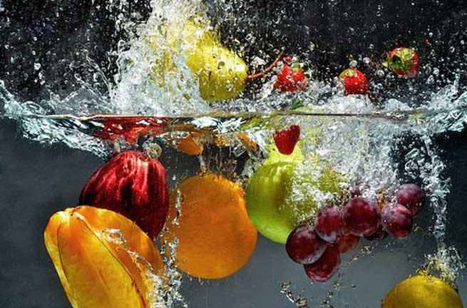 как отмыть воск на яблоках