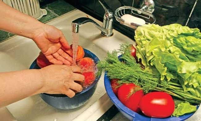 как мыть фрукты и овощи из магазина