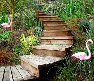 садовые лестницы