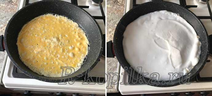 как сделать омлет пышным и высоким на сковороде