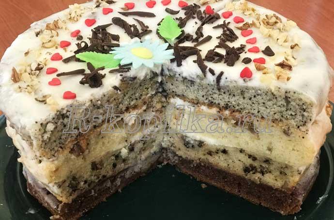 торт наташа с маком и орехами